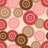 Pink and brown flower pattern Royalty Free Stock Photography