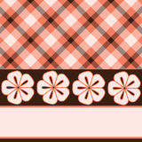 Pink brown flower plaid Stock Photography