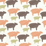 Pink Brown and Green Natural Color Sheep royalty free illustration