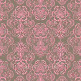 Pink and Brown Grungy Vintage Flower background. Pink and brown antique shabby chic grungy vintage flower pattern background Stock Photography