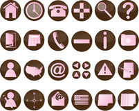 Pink Brown Icons Stock Photo