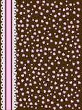 Pink brown lace. Background with pink and brown hearts and lace stripe Stock Images