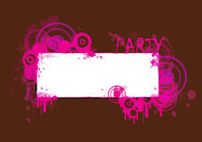 Pink and Brown Party Banner. Pink and brown grunge party banner and invitation Stock Photography