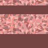 Pink-Brown Pattern. Shell-like brown and pink background Royalty Free Stock Photography