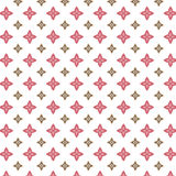 Pink and brown shapes pattern. Pink and brown star like shapes on a white background stock illustration