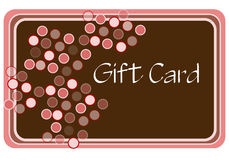 Pink and Brown Shopping Card. Gift card for shopping drawn in Illustrator CS2 Stock Image