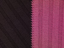Pink and brown stripes fabric, background Stock Photography