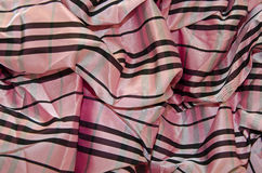 Pink and brown taffeta Royalty Free Stock Photo