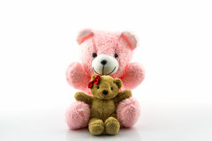 Pink and brown teddy bear. Royalty Free Stock Photo