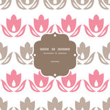 Pink and brown tulips stripes frame seamless Stock Images