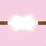 Pink and brown vintage card stock illustration