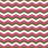 Pink brown zig zag seamless pattern Royalty Free Stock Images