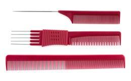 Pink brushes isolated on white Stock Image