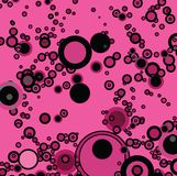 Pink bubble. A abstract bubble background in pink and black vector illustration