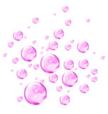 Pink Bubbles. An illustration of liquid pink bubbles Stock Image