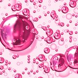 Pink bubbles Royalty Free Stock Image