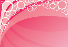 Pink bubbles background Stock Photo