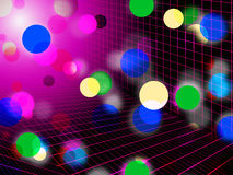 Pink Bubbles Background Shows Circles Grid And Shining Royalty Free Stock Photo