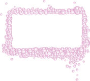 Pink Bubbles Rectangular Frame Royalty Free Stock Photos