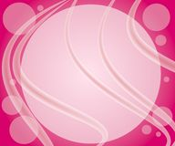 Pink Bubbles Swirls Background stock photography