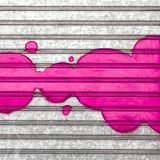 Pink bubbles on wall stock image