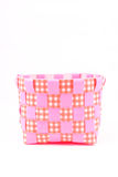 Pink bucket. Plastic pink bucket isolated on white background Stock Images