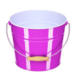 Pink bucket Stock Photography