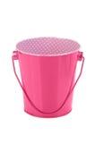 Pink bucket Stock Photography