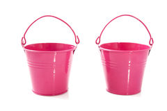 Pink buckets Stock Image