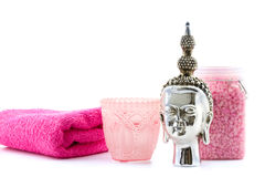 Pink buddha welness Stock Photos