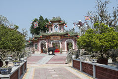 Pink buddhist temple. Hoian Vietnam Royalty Free Stock Photography
