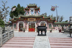 Pink buddhist temple. Hoian Vietnam Royalty Free Stock Images