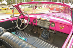 Pink buick interior Stock Photography