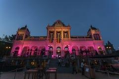 Pink building in Vondelpark in Amsterdam Stock Photos