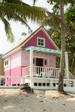 Pink bungalow Stock Images
