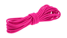 Pink bungee cord   on a white background Stock Image