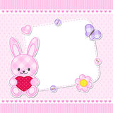 Pink bunny card Royalty Free Stock Photography