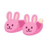 Pink bunny slippers Stock Photo