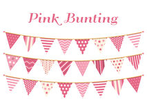 Pink Bunting Royalty Free Stock Images