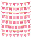 Pink Bunting Royalty Free Stock Photography