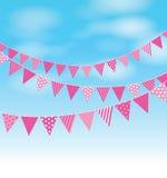 Pink bunting Royalty Free Stock Image