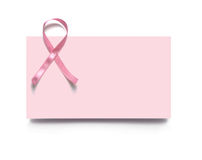Pink business card Royalty Free Stock Image