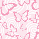 Pink butterflies vector illustration