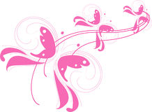 Pink butterflies Stock Images