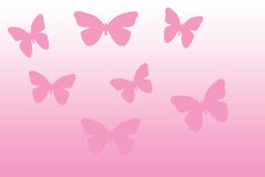 Pink butterflies Royalty Free Stock Image