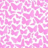 Pink butterflies background vector Stock Photos