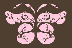 Pink butterfly royalty free illustration