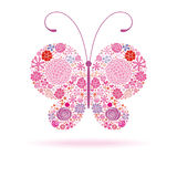 Pink butterfly Stock Photo