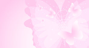 Pink butterfly background Stock Photo