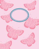 Pink Butterfly Background. Pink Butterfly Card or Poster Background with copy space Royalty Free Stock Photos